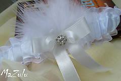 Svadobný podväzok biela & ivory