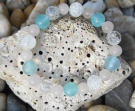 Náramky - sweet...cristall,rosa and blue.. - 8696628_