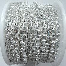 Galantéria - Štrasová metráž 2,9mm (crystal/strieb-10cm) - 8695806_