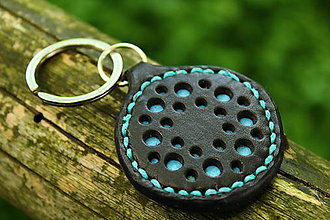 Kľúčenky - kľúčenka s dierkami (Tyrkysová) - 8695080_