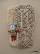 Textil - 100% MERINO wool Podložka do kočíka Bugaboo/ Joolz/ Valco/ Petite and Mars / Britax 100% MERINO SAND piesková - 8693910_