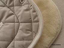Textil - 100% MERINO wool Podložka do kočíka Bugaboo/ Joolz/ Valco/ Petite and Mars / Britax 100% MERINO SAND piesková - 8694059_
