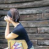 Ozdoby do vlasov - Zaväzovacie čelenka - černá - 8696223_