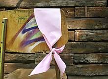 Ozdoby do vlasov - Zaväzovacie čelenka - svetlo ružová - 8696259_