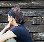 Ozdoby do vlasov - Zaväzovacie čelenka - svetlo ružová - 8696261_