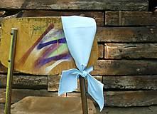 Ozdoby do vlasov - Zaväzovacie čelenka - svetlo modrá - 8696287_