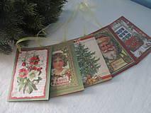 Papiernictvo - Vianočné kartičky - visačky - 8695774_