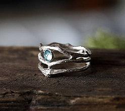 Prstene - Twig & Thorn Vetvičkový prsteň s topazom - 8696777_