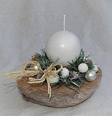 Svietidlá a sviečky - Svietnik 33 - vianočný - 8694858_