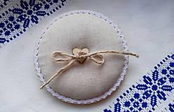 Prstene - podnos na svadobné prstienky - 8696778_