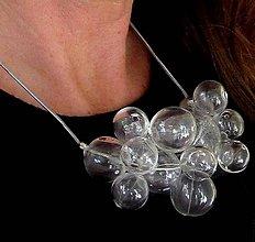 Sady šperkov - Živá voda na striebornej hadej retiazke - 8694437_