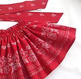 Detské oblečenie - Sukienka folk červená  - 8692860_