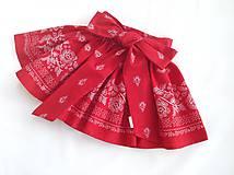Detské oblečenie - Sukienka folk červená  - 8692861_