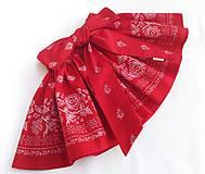 Detské oblečenie - Sukienka folk červená  - 8692862_