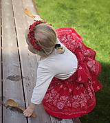 Detské oblečenie - Sukienka folk červená  - 8692863_