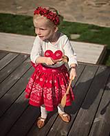 Detské oblečenie - Sukienka folk červená  - 8692866_