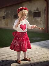 Detské oblečenie - Sukienka folk červená  - 8692867_