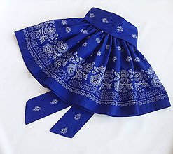 Detské oblečenie - Sukienka folk modrá - 8692925_
