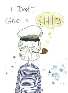 Iné - I don't give a ship - 8695439_