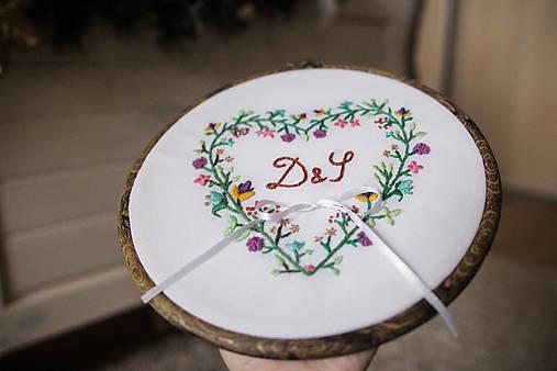 Prstene - Svadobný kruh paleta farebných kvetov - 8693567_
