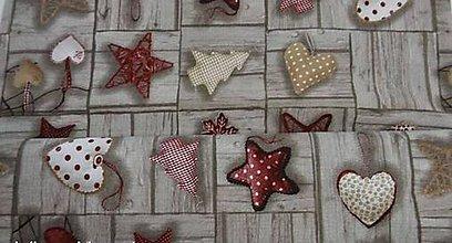 Textil - Vianoce na dreve - vínovo-šedo-hnedé š.140 - 8694408_