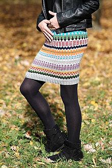 Sukne - Pletená sukňa-midi - 8693687_