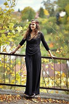 Šaty - Dlhé šaty BOHO - čierné - 8694458_