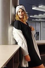 Šaty - Šaty s vreckami čierne z teplákoviny M14 IO7 - 8695942_