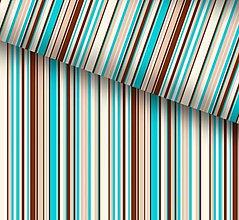 Detské súpravy - Pruhy modro-béžovo-hnedo-biele - 8699050_