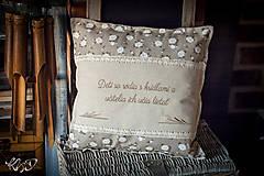 Úžitkový textil - Vankúšik pre pani učiteľku No.9 - 8700844_