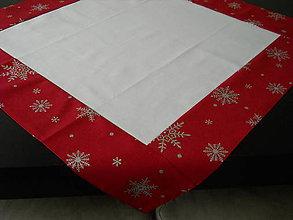Úžitkový textil - Vianočný obrus - Strieborné vločky I - 8699076_