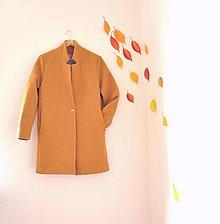Kabáty - boyfriend coat .vlnený žltý - 8696967_