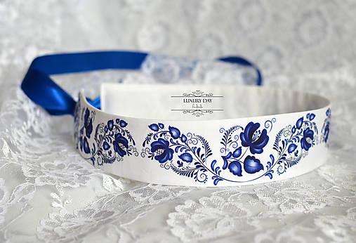 Opasky - opasok folk modrý (Modrá) - 8697590_