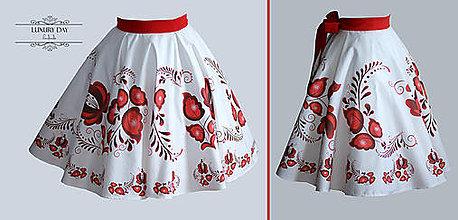 Sukne - suknička FOLK (Červená) - 8697556_