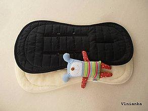 Textil - Bugaboo Seat Liner BLACK and WHITE fabric/ Podložka do kočíka Bugaboo/ Joolz/ Valco/ Britax/ ELEGANT čierna a biela - 8698070_