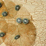 Náušnice - Mint baldachins - vyšívané puzety - 8700723_