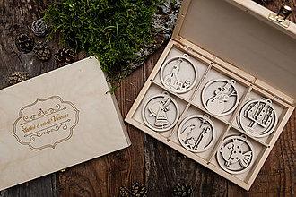 Dekorácie - Vianočné ozdoby z dreva - KOLEKCIA VIANOČNÁ KOLEDA - 8700632_