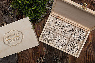 Dekorácie - Vianočné ozdoby z dreva - KOLEKCIA ZIMNÁ ROZPRÁVKA - 8701499_