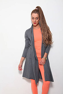 Kabáty - KARDIGAN GREY - 8701150_