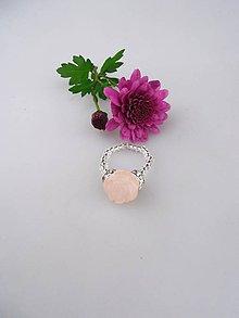 Prstene - Ruženín prsteň kvietok - 8701381_