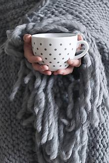 Úžitkový textil - Vlnená pletená deka 90 x 170 cm - 8699952_