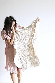 Úžitkový textil - Pletený okrúhly koberec - Natur - 8700078_