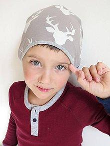 Detské čiapky - čiapka Jelene (béžová) - 8700054_