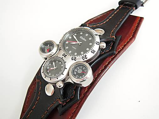 0ca6ce85f Netradičné pánske hodinky, kožený náramok / leon - SAShE.sk ...
