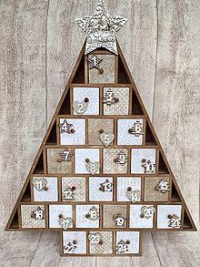 Krabičky - Adventný kalendár stromček  - 8697909_