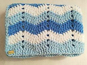 Textil - Háčkovaná detská deka nielen do kočíka - 8698401_