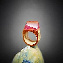 Prstene - Drevený prsteň: Slnko, ktoré nezapadá - 8701312_
