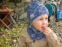 Detské doplnky - Modrý nákrčník - 8700847_