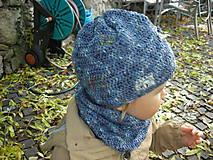 Detské doplnky - Modrý nákrčník - 8700888_