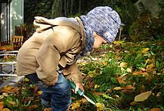 Detské doplnky - Modrý nákrčník - 8700969_